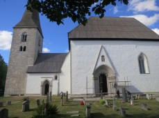 field trip to the Källunge church, home to the oldest known nyckelharpa representation dating from 1350