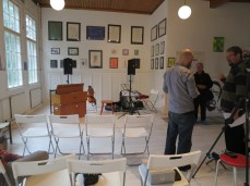 all set up in the gallery space