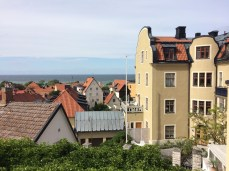 old Hansa town in the sunlight