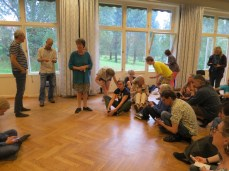 each evening we had a lesson together with all the other courses. this was singing night.