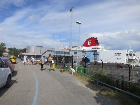 taking the ferry to Gotland