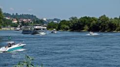 Am Donauradweg in der Höhe von Auerbach