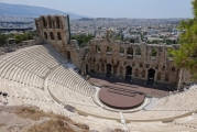 <h5>Odeon of Herodes Atticus - Ηρώδειον</h5><p>Built in 161 AD by the Athenian magnate Herodes Atticus in memory of his wife.</p>