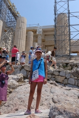 <h5>Propylaia - Προπύλαια</h5><p>Pro (Before, preceeding) Pylaia (from Pyli, Entrance) This is the magestic entrance to the Akropolis</p>