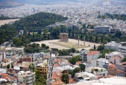 <h5>Temple of Olympian Zeus</h5><p>Στήλες Ολυμπείου Διός. View from the Akropolis.</p>