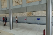 <h5>Akropolis Museum</h5><p>Last floor, dedicated to the Parthenon. A life size mockup of the monument, with all decorations where they appeared on the original monument.</p>