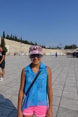 <h5>Panathinaikon Stadium, 566 BC.</h5><p>70,000 spectators. All made of marble.</p>