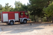 <h5>Agia Paraskevi foothills. Fire-truck standing-by.</h5><p>Greece suffers from many forest fires. Fire-truck standing-by atop Athens.</p>