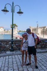 <h5>Nafpaktos, castle in the background</h5>