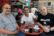 <h5>With Spyros and his friend George, a brilliant mind.</h5>
