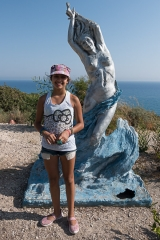 <h5>Up at the tourist pavilion </h5><p>Aphrodite, goddess of love and beauty, emerging from the foam in this very area.</p>