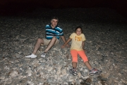 <h5>At the sea side at night.</h5>