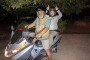 <h5>Apostolos and Eleni in Athens, still riding their Vespa!</h5>
