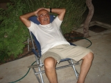 <h5>My dad relaxing. From Marina's roll.</h5>