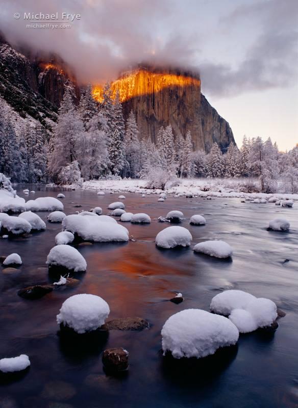 El Capitan Yosemite In The Winter Michael Frye