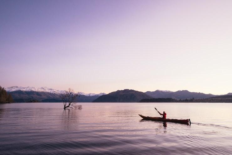Kayak Lake Wanaka New Zealand 2