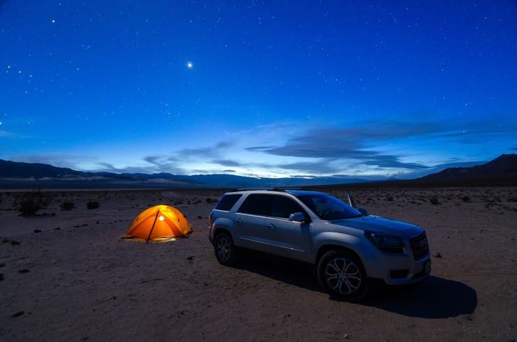 Eureka Dunes - Campsite Blue Hour