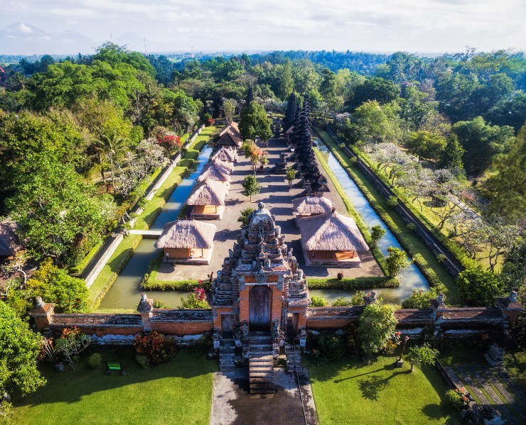Indonesia bali temple by Drone by Michael Matti