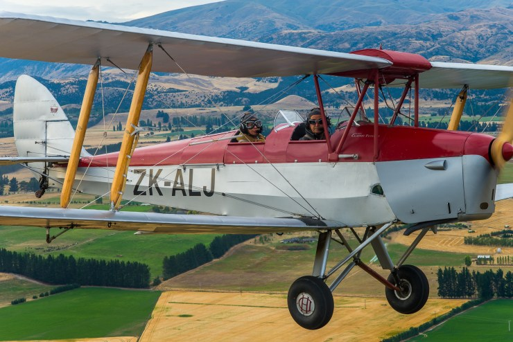 Lake Wanaka New Zealand Tiger Moth Flight 10