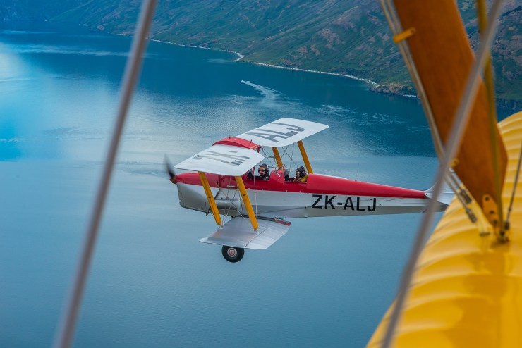 Lake Wanaka New Zealand Tiger Moth Flight 13