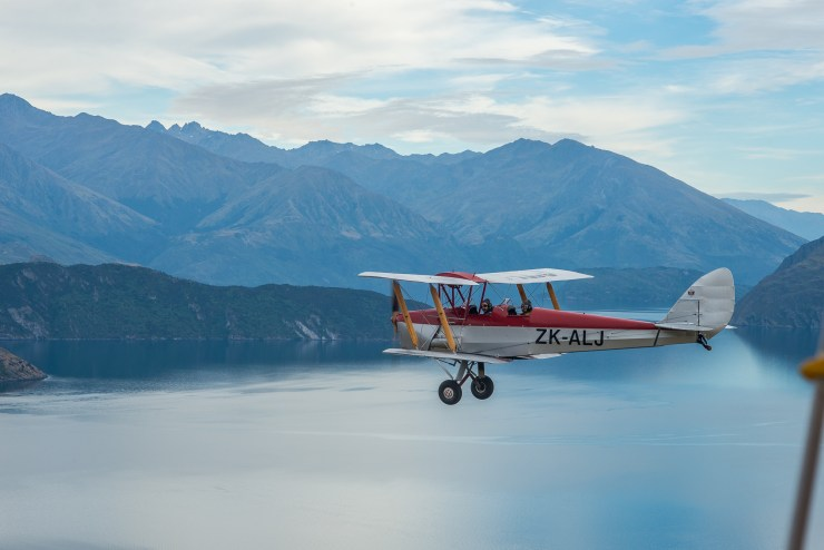 Lake Wanaka New Zealand Tiger Moth Flight 6