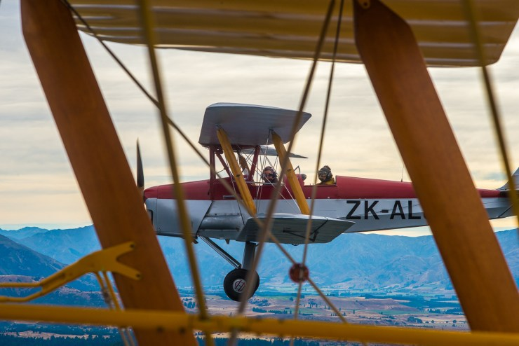 Lake Wanaka New Zealand Tiger Moth Flight 8