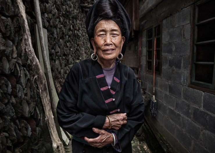 Woman from Xiaozhai Village near China's Longji Rice Terraces. This image was taken within a short walk of her house.