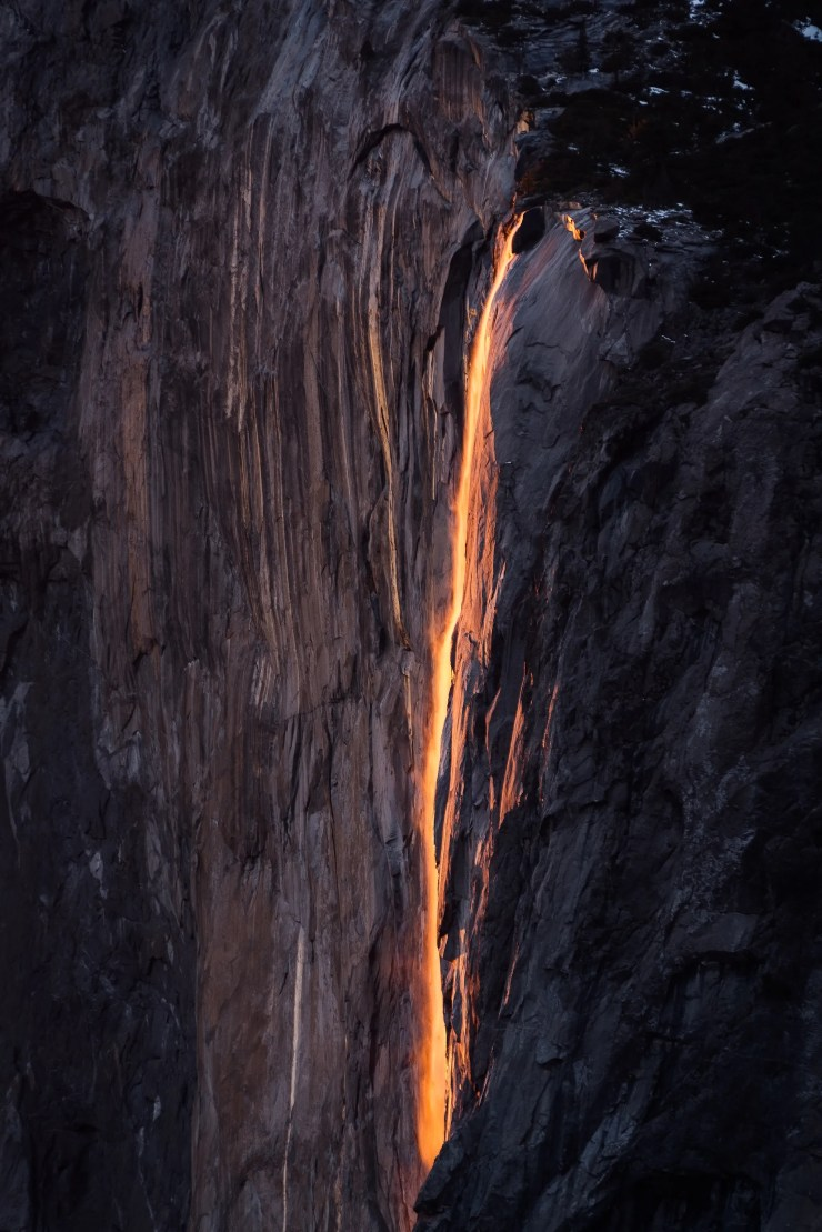 Blood Orange Horsetail Fall Yosemite National Park Taylor Gray