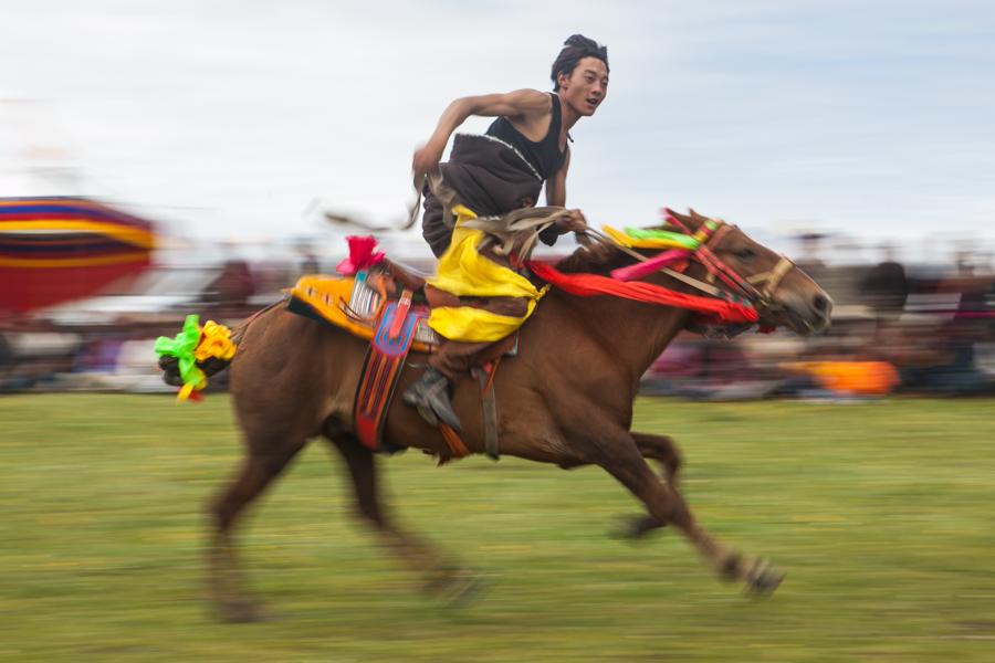 1 man on horse