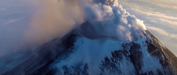 National Geographic 360 Video Klyuchevskoy Volcano Russia 4