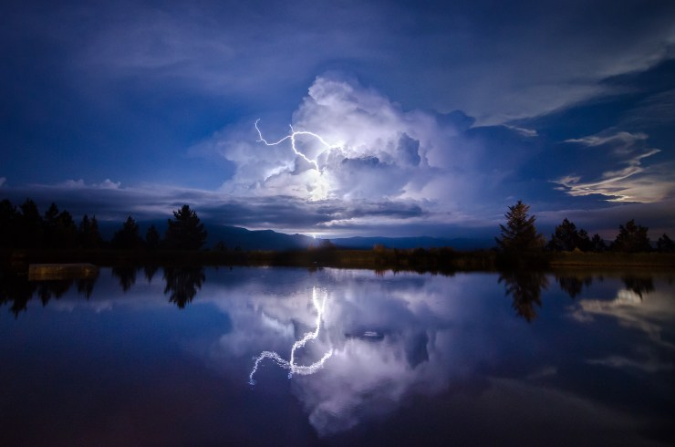 Lightning Storm Reflection