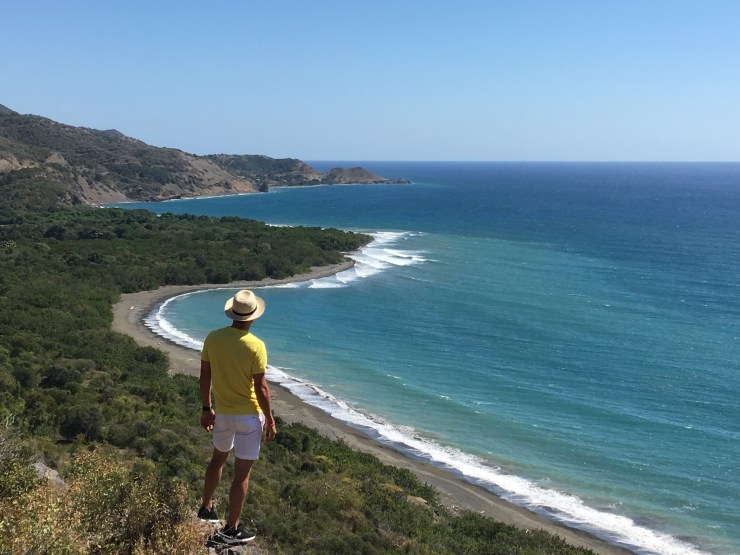 My friend Jairo looks over the untouched coastline that lines the eastern part of the island.