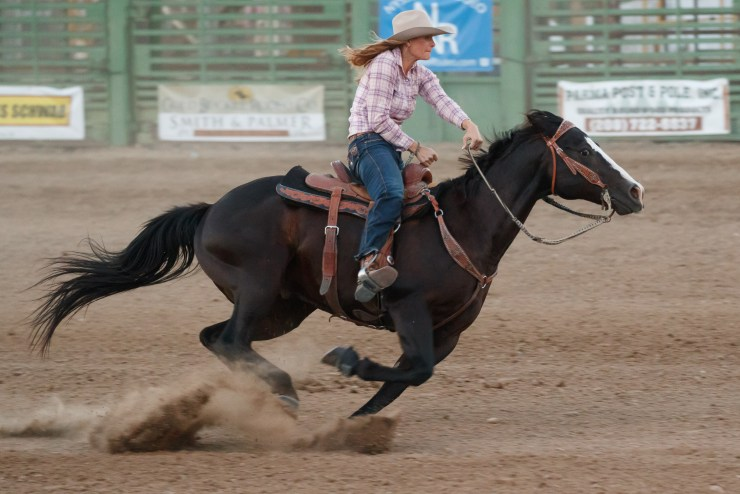 Photograph taken at the Nyssa Nite Rodeo, Nyssa Oregon, June 18th 2016. Photo by Barnaby Britton