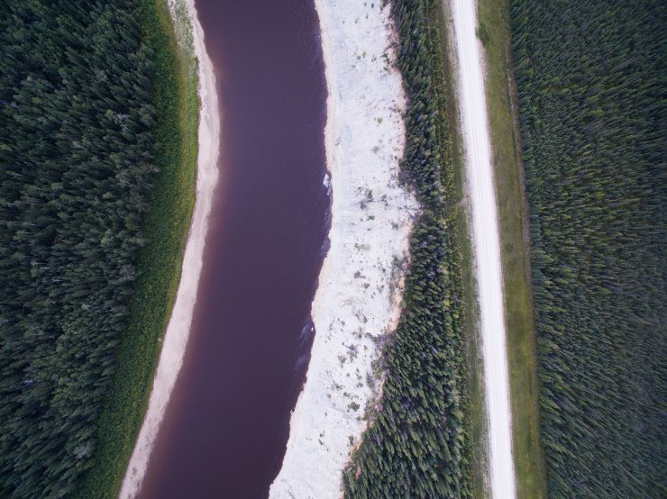 Hay River, NWT. Having a drone really helps showcase how incredible places can be. I try to shoot early in the morning or late afternoon as the light angle changes and the contrast can look incredible.