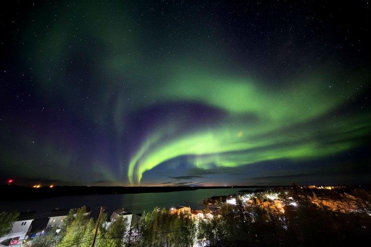 Solar storm in Yellowknife, Canada.