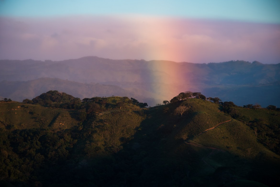 Later on the way to Monteverde, Costa Rica a massive rainbow appeared on the border between two eco-systems. Relying on offline navigation allows you to get your head out of a map and notice the scenery.