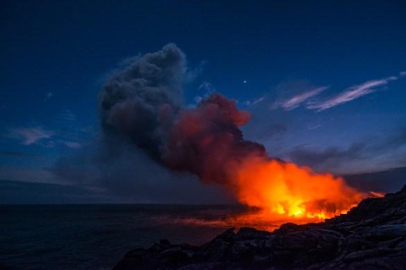 Jack Fusco Ocean Entry Blue Hour Stars Resize 585 Watch Lava Meet The Under Hawaiian Night Sky
