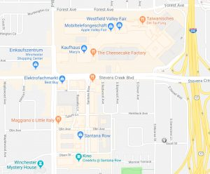 Santana Row auf Google Maps