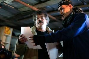 Salim and Ziad look over the demolition orders