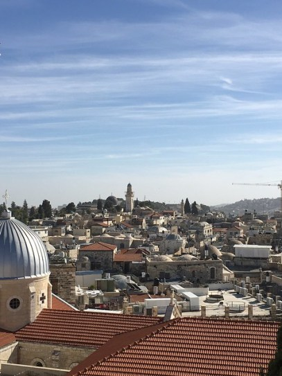 What to see and do in the West Bank, Palestine. Picture from the rooftops of Jerusalem