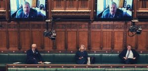 An image of the Commons chamber during coronavirus - taken by Jessica Taylor / House of Commons