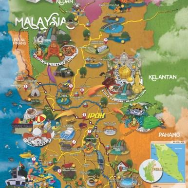 霹雳州旅游地图