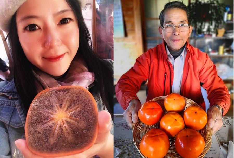 【茨城│常陸太田市•秘食04】日本超級美食只有茨城吃得到~星霜柿 比臉還大的星型超甜柿子