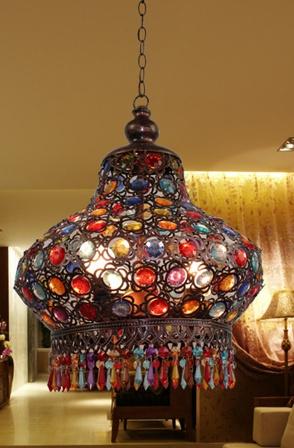 Bohemia-american-Nepal-handmade-multicolour-acrylic-beads-E27-pendant-light-decoration-lamp-fashion-dream-for-bedroom
