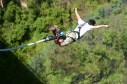 Bungi Jumping from the height of 160 meter or 524 feet from BhoteKoshi,Nepal. BhoteKhoshi is a 4 hour drive from the capital city of Nepal. Bungi Jumping is one of the most popular adventure sport of Nepal.