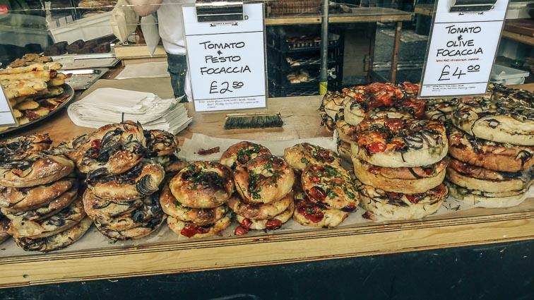 Pizza at Borough Market, London