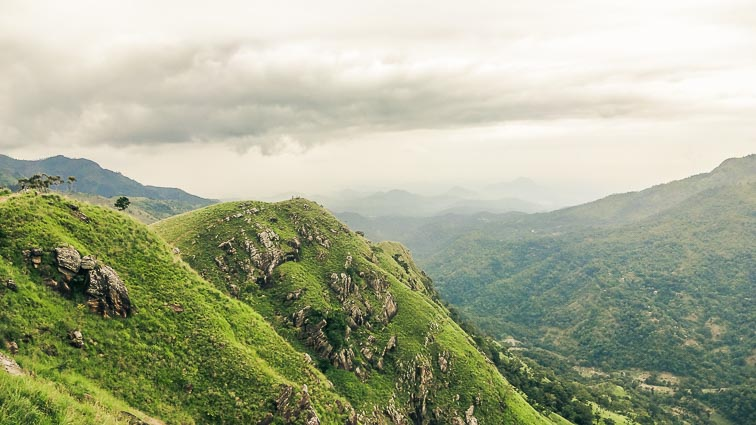 Ella, Sri Lanka. Stunning views from Little Adams Peak