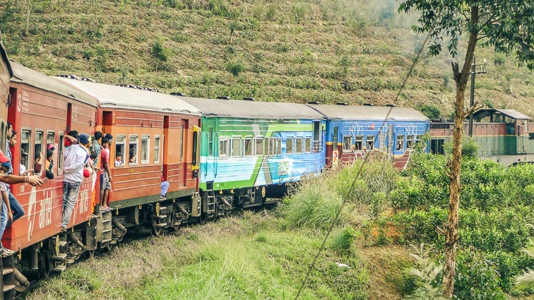 Hanging out the train in Sri Lanka