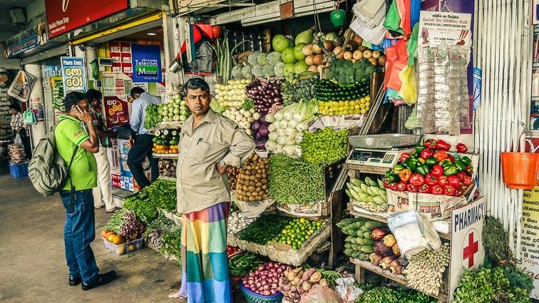 Kandy, Sri Lanka. Market