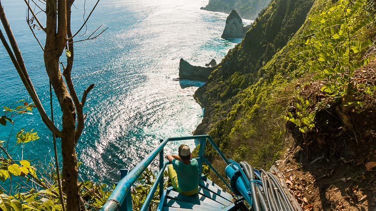 Nusa Penida. Blue stairs temple
